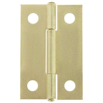 Петля карточная Левша 35х22 мм сталь цвет золото 2 шт.