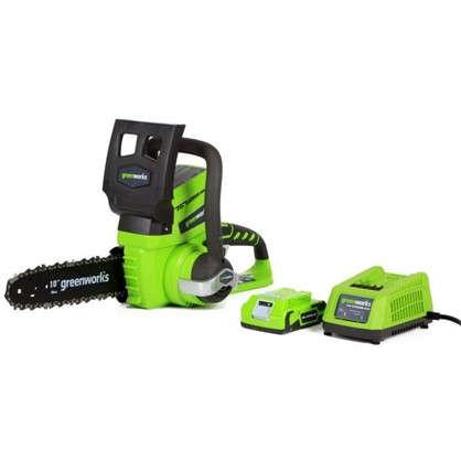 Пила цепная аккумуляторная Greenworks 24 В с зарядным устройством цена