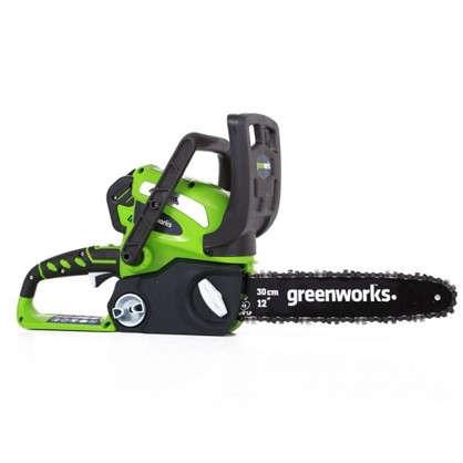 Пила цепная аккумуляторная Greenworks 40 В без аккумулятора и зарядного устройства
