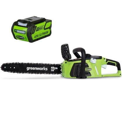 Пила цепная аккумуляторная GreenWorks 40 В безщёточный двигатель без аккумулятора и зарядного устройства в комплекте цена
