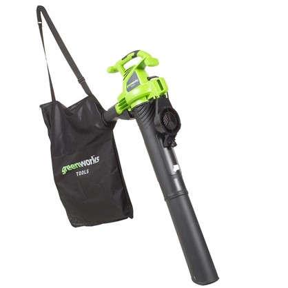 Пылесос садовый электрический Greenworks 2800 Вт цена
