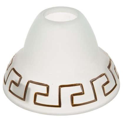 Плафон Этруска E27 цвет прозрачный матовый/коричневый цена