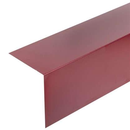 Планка для наружных углов с полиэстеровым покрытием 2 м цвет красный цена