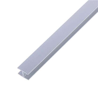 Планка для стеновой панели H-образная 60х1х0.4 см алюминий