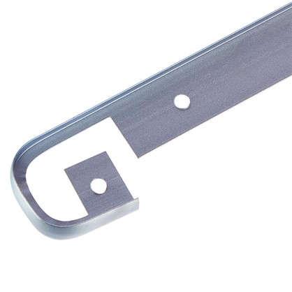 Планка для столешницы соединительная 2.8 см цвет матовый хром цена