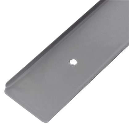 Планка для столешницы торцевая 38 мм металл цвет серебристый цена