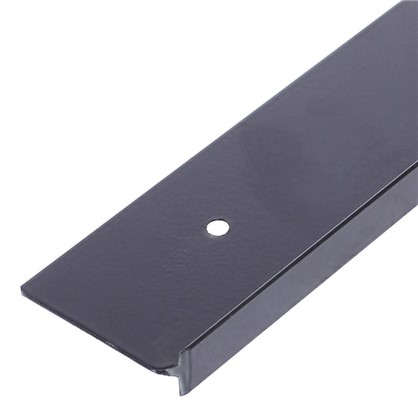 Планка для столешницы угловая 38 мм металл цвет серебристый цена