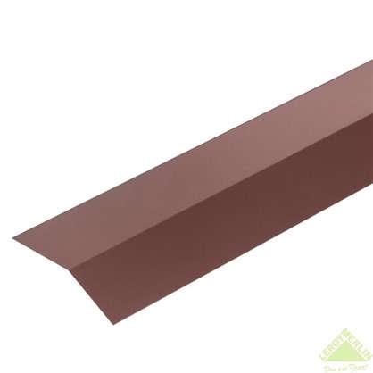 Планка карнизная с полиэстеровым покрытием 2 м цвет коричневый цена