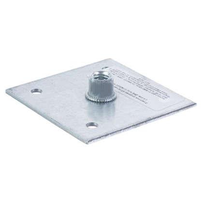 Пластина опорная 60x60x2 мм гайка M8 оцинкованная сталь цена