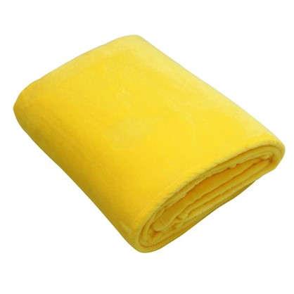 Плед 180х200 см фланель цвет желтый цена