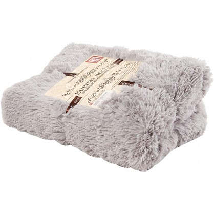 Плед декоративный 200х220 см мех цвет серый цена