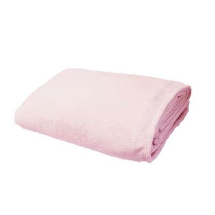 Плед фланелевый 180х200 см цвет розовый цена