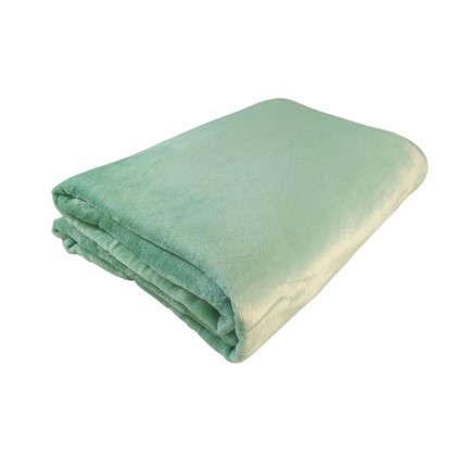 Плед фланелевый цвет зеленый 180х200 см цена