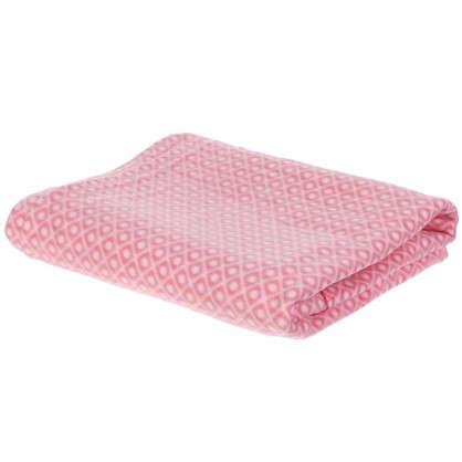 Плед флисовый Play 130х170 см цвет розовый