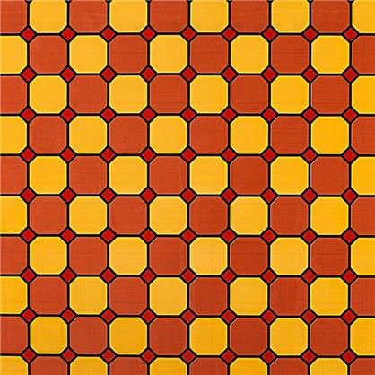 Пленка самоклеящаяся Соты 9206 0.45х2 м витраж цвет красный цена