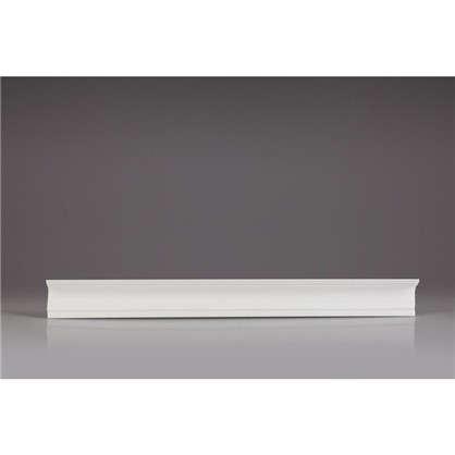 Потолочный плинтус 06011А для натяжного потолка 200х6 см цвет белый