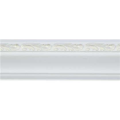 Потолочный плинтус 148B-60 интерьерный 200х4.5 см цвет белый цена