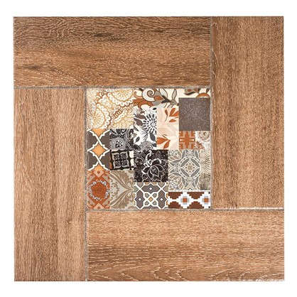 Напольная плитка Ранчо 41.8х41.8 см 1.747 м2 цвет коричневый