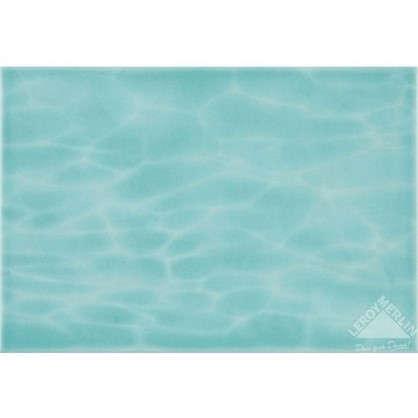 Плитка настенная Лагуна дно 24.9х36.4 см 1.54 м2 цвет голубой