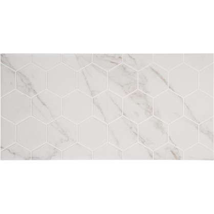 Плитка настенная Marble Гексо 60x30 см 1.62 м2 цвет белый матовый цена