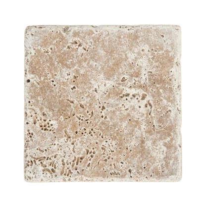 Плитка настенная Травертин Toscana 10х10 см 0.5 м2 цвет коричневый цена