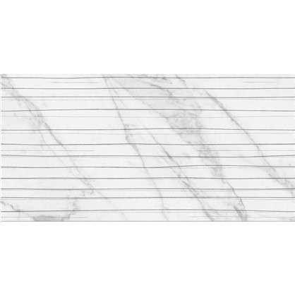 Плитка настенная Wave Marble 60x30 см 1.62 м2 цвет белый матовый цена