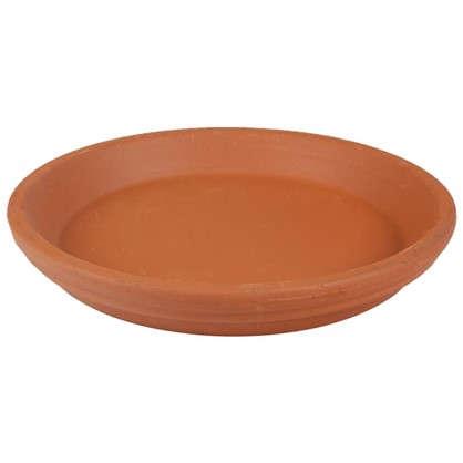 Поддон для горшка 21 см керамика цвет терракотовый