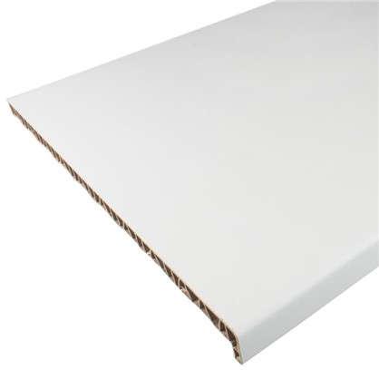 Подоконник пластиковый 600x3000 мм цвет белый
