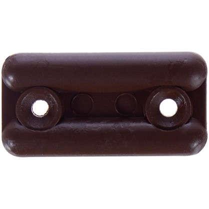 Подпятник прямоугольный 18х35 см пластик цвет темно-коричневый 8 шт.