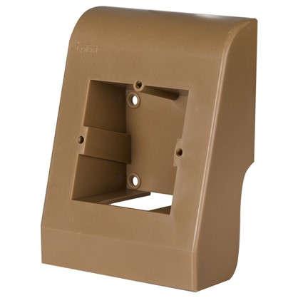Подрозетник для плинтуса ПВХ 58 мм цвет коричневый цена