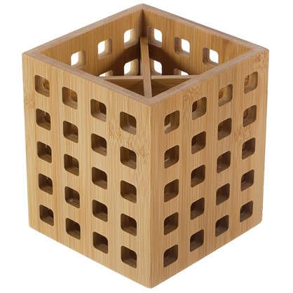 Подставка под столовые приборы 120х120х140 цвет бамбук цена
