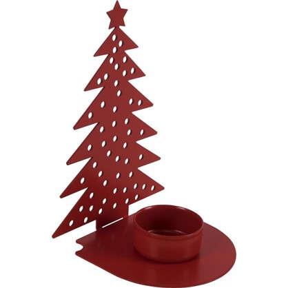 Подсвечник для чайной свечи Ёлочка цвет красный цена