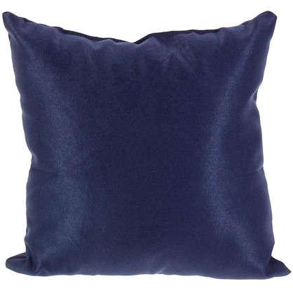 Подушка декоративная 40х40 см цвет темно-синий цена