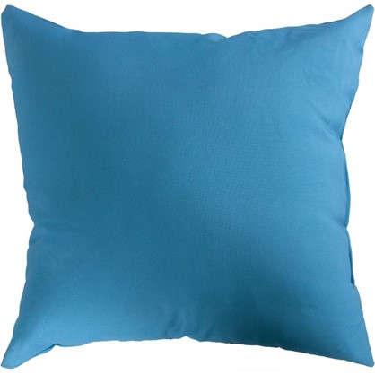 Подушка декоративная 40х40 см текстура габардин цвет синий цена