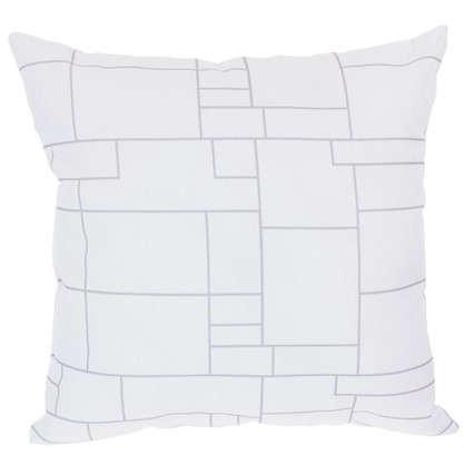 Подушка декоративная Ассиметричная клетка 40х40 см цена