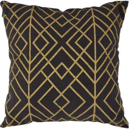 Подушка декоративная Гео золото 40х40 см цена