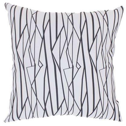 Подушка декоративная Геометрия 40х40 см цвет бело-черный