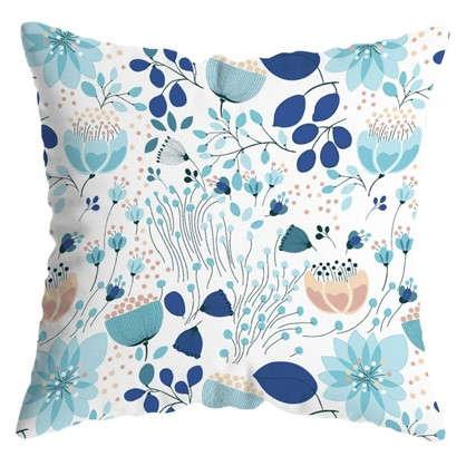 Подушка декоративная Голубой лотос 40х40 см