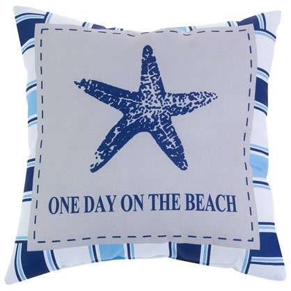 Подушка декоративная Море звезда с полоской 40х40 см