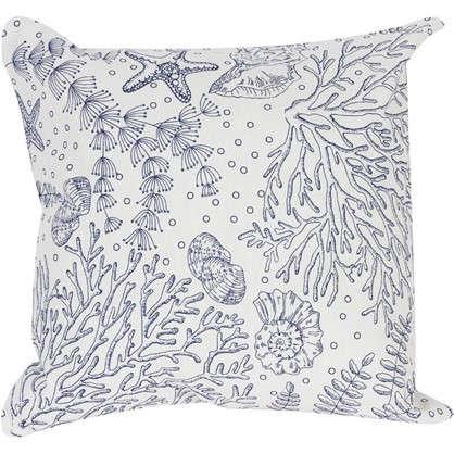 Подушка декоративная Морская фауна 40х40 см цена