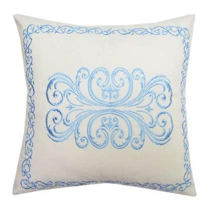 Подушка декоративная Неоклассика 40х40 см цвет голубой