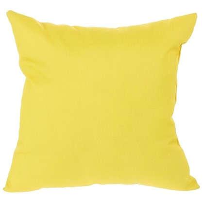 Подушка декоративная Однотон 40х40 см цвет желтый