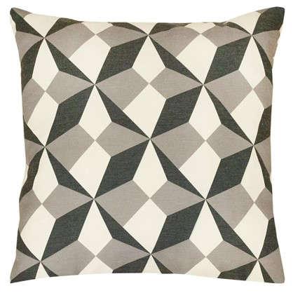 Подушка декоративная Оптикал 40х40 см цвет серый