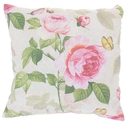 Подушка декоративная Садовый аромат 40х40 см цвет розовый цена