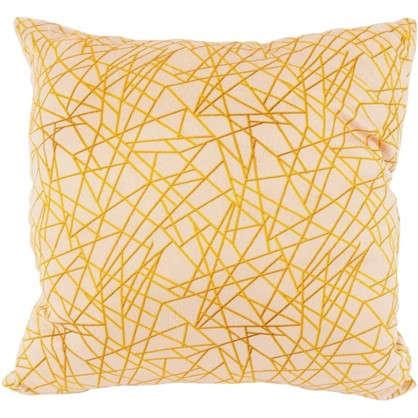 Подушка декоративная Velvet Gold 40х40 см текстура плюш