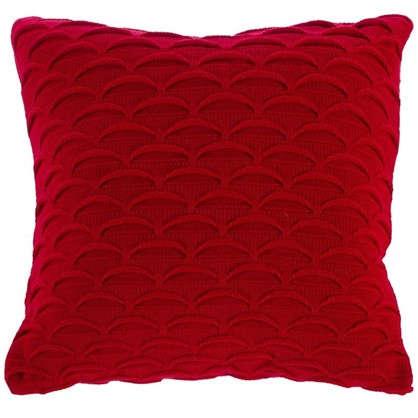 Подушка декоративная вязаная 40х40 см цвет красный цена