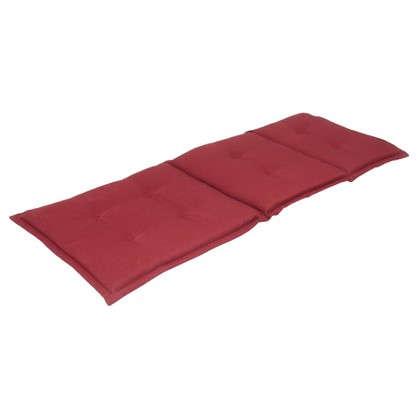 Подушка для шезлонга красная 165х65х5 см полиэстер цена