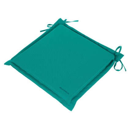 Подушка для стула голубая 43х43 см полиэстер