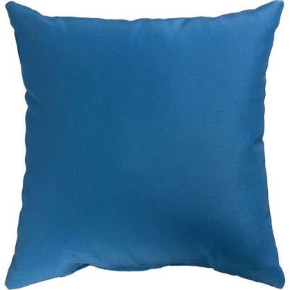 Подушка для стула Рогожка 40х40 см цвет синий цена