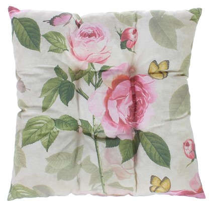 Подушка для стула Садовый аромат 40х40 см цвет розовый цена